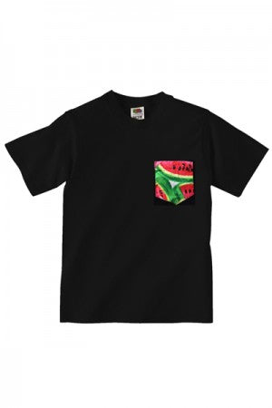 Lovebite Clothing Pocket Tee Watermelon BLK - YOU ARE MY POISON