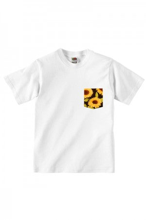 Lovebite Clothing Pocket Tee Sun Flower (White) - YOU ARE MY POISON