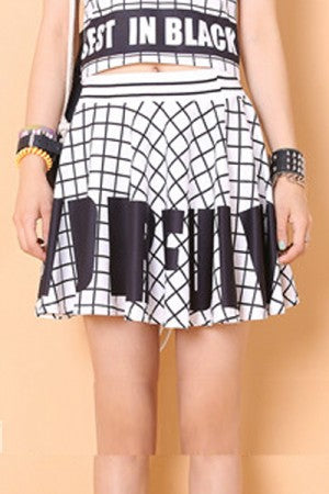 Wonderful Check Mini Skirt White - YOU ARE MY POISON