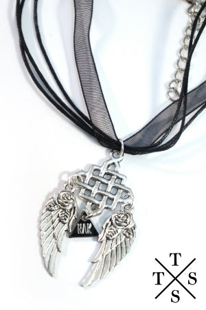 XTS Dream Catcher Wing Necklace - YOU ARE MY POISON