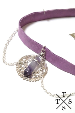 XTS Purple Stone Moon Choker(Purple) - YOU ARE MY POISON