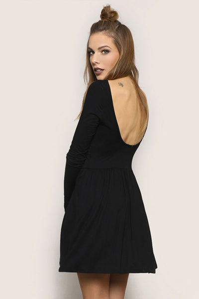 AUTUMN MINI DRESS - BLACK - YOU ARE MY POISON