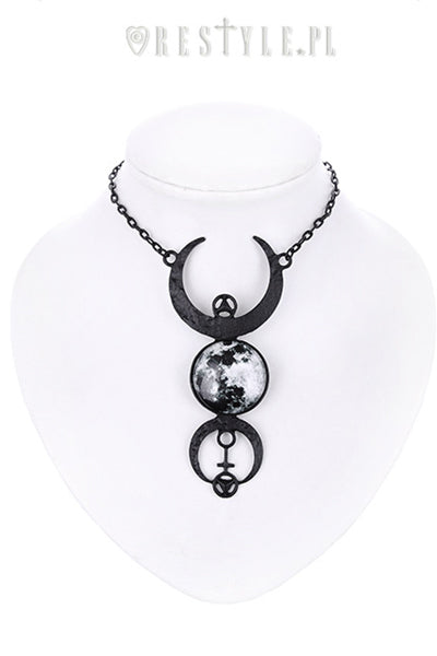 Restyle FULL MOON BLACK NECKLACE - YOU ARE MY POISON