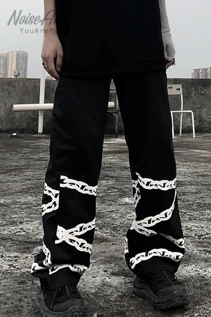 Chain Printed Pants (Black)