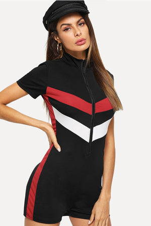 Colorblock Striped Jumpsuit