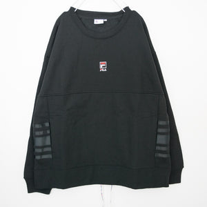FILA HERITAGE Side Line Crew Neck Sweatshirt (Black) FM9783
