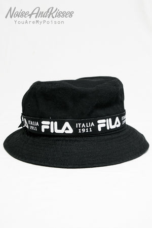 FILA Logo Ribbon Tape Bucket Hat (3 color)