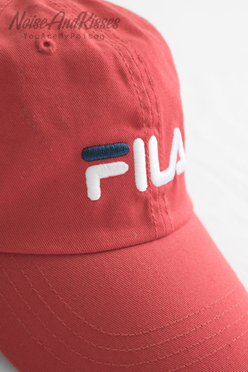 FILA LINEAR LOGO LOW CAP (Red)