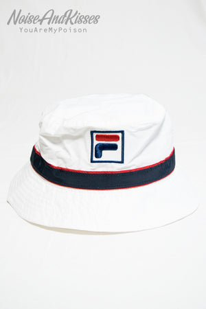 FILA SATIN TAPE BUCKET HAT (White)