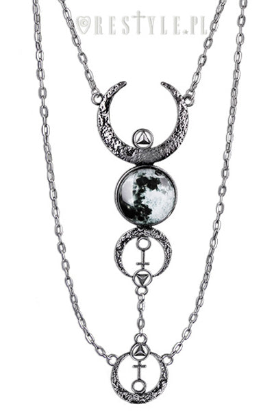 Restyle FULL MOON NECKLACE - YOU ARE MY POISON