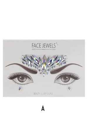 Face Jewels Sticker Sheet (6 Types)