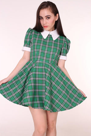 Glitters For Dinner Tartan Wonderland Dress in Green - YOU ARE MY POISON