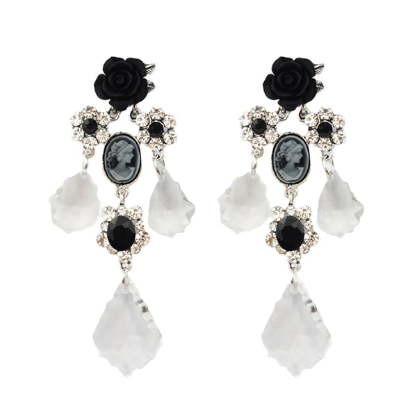 Crystal Cameo Pierce (Black)