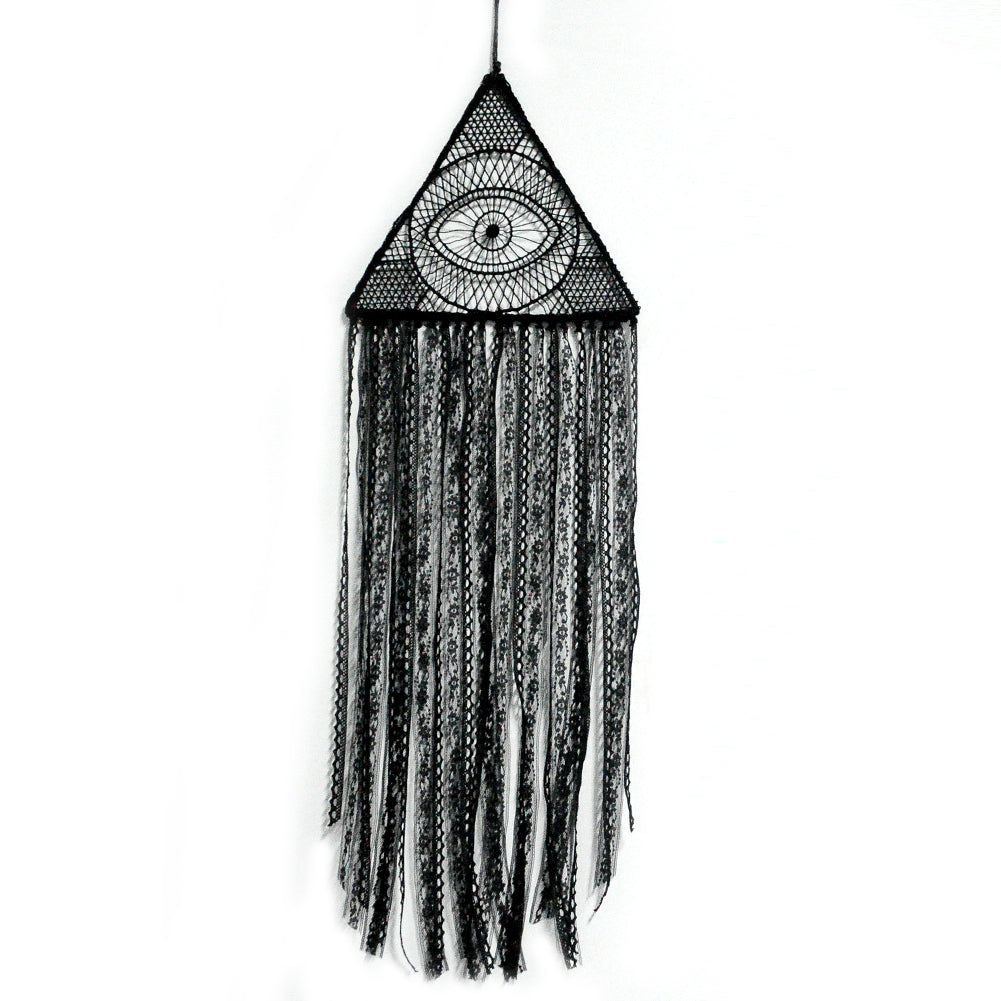 Pyramid Dream Catcher (Black)