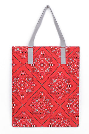 KRAVITZ KRABAG(2-5815) Red Bandana Tote Bag