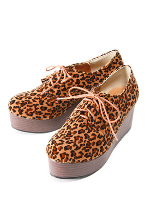 Leopard Platform Shoes