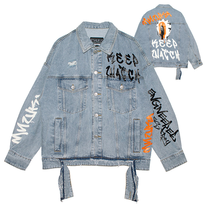 MISHKA RIPPED K.W Melt Down Denim Jacket (L.INDIGO/MSS200509)
