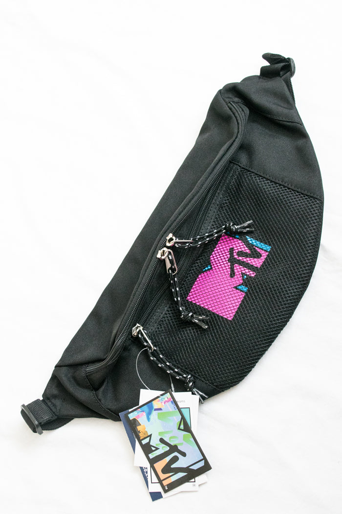 MTV Official Logo Printed Waist Pouch Bag (2 Colors)