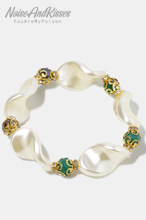 Molded Pearl & Bead Bracelet (3 color)