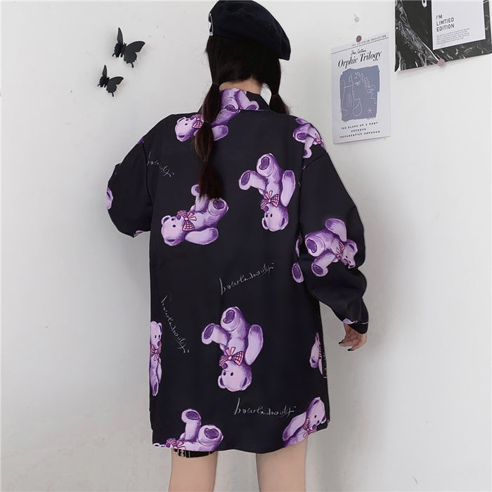 Purple Teddy L/S Shirt (Black)