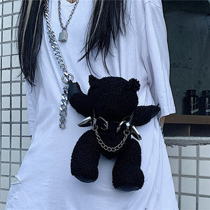 Teddy Bear Chan Bag (Black)