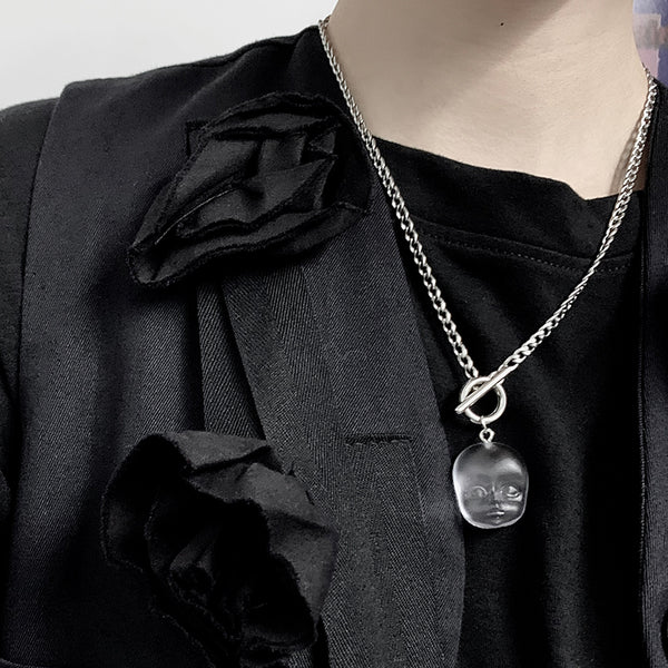 Baby Face Necklace (Clear)