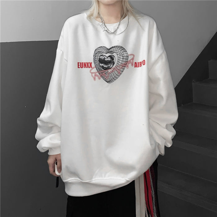 3D Heart Sweatshirt (2 color)