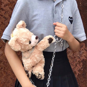 Teddy Bear Plush Chain Bag