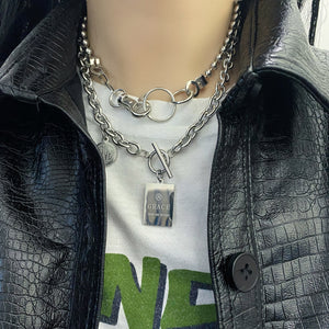Chain Necklace Set (Silver)