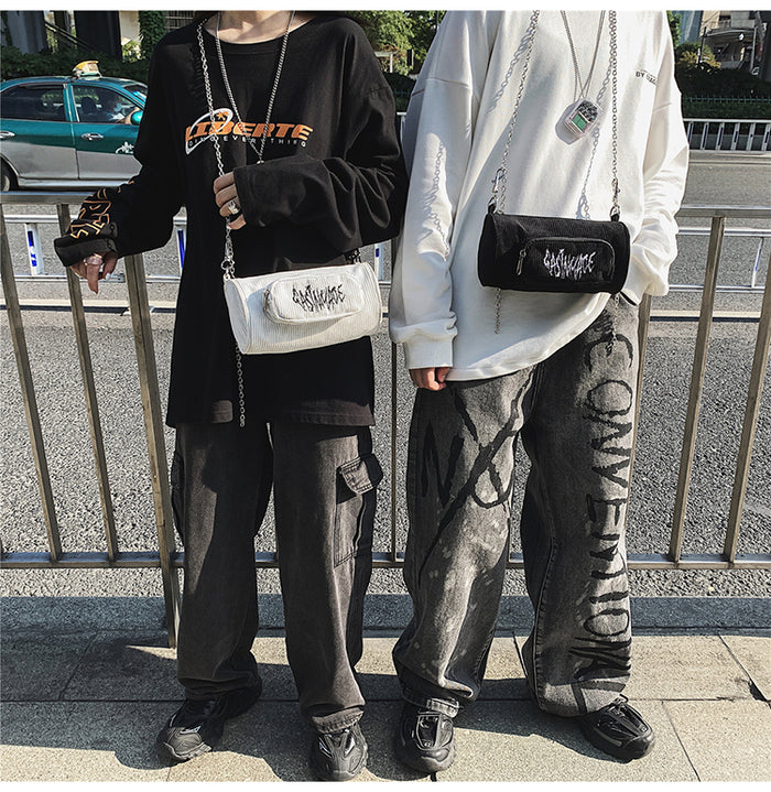 Logo x Chain Mini Bag (Black)