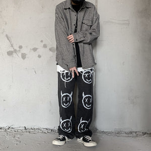 Devil Faces Pants (Black)