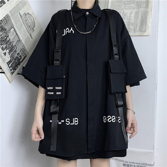 Belt Harness S/S Shirt (Black)
