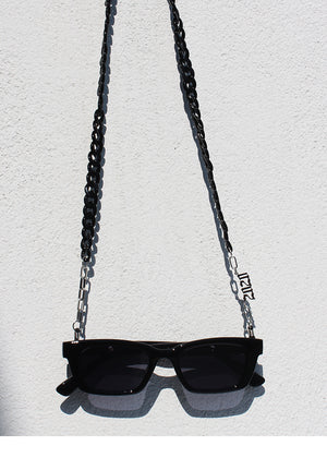 Sunglasses with chain (Black)