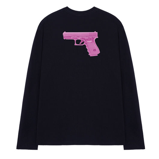 Pistol Kawaii L/S T-shirt (Black)