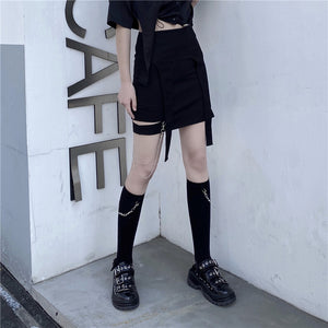 Barbed Wire Chain Socks (Black)