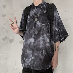 Dark Tie-Dye S/S Shirt (Black/Gray)