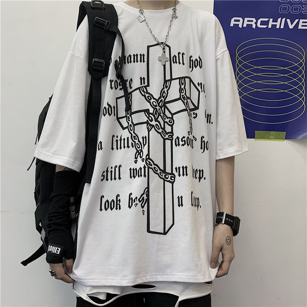 Cross Chain S/S T-shirt (2 color)