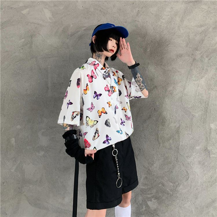 Colorful Butterflies S/S Shirt (2 color)