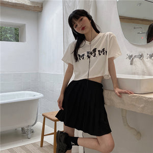 Butterfly Printed S/S T-shirt (2 type)