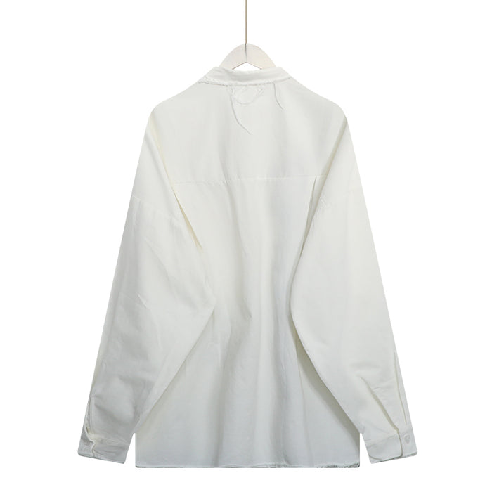 Embroidery L/S Shirt (White)