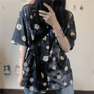 Daisy Tie Dye S/S Shirt (2 color)