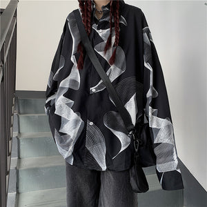 Line Wave L/S Shirt (Black)