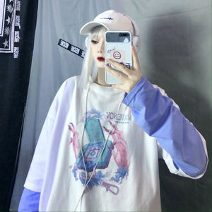 Portable Game L/S T-shirt (White)