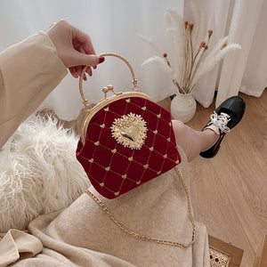 Corazon Dot Velvet Shoulder Bag (2 color)