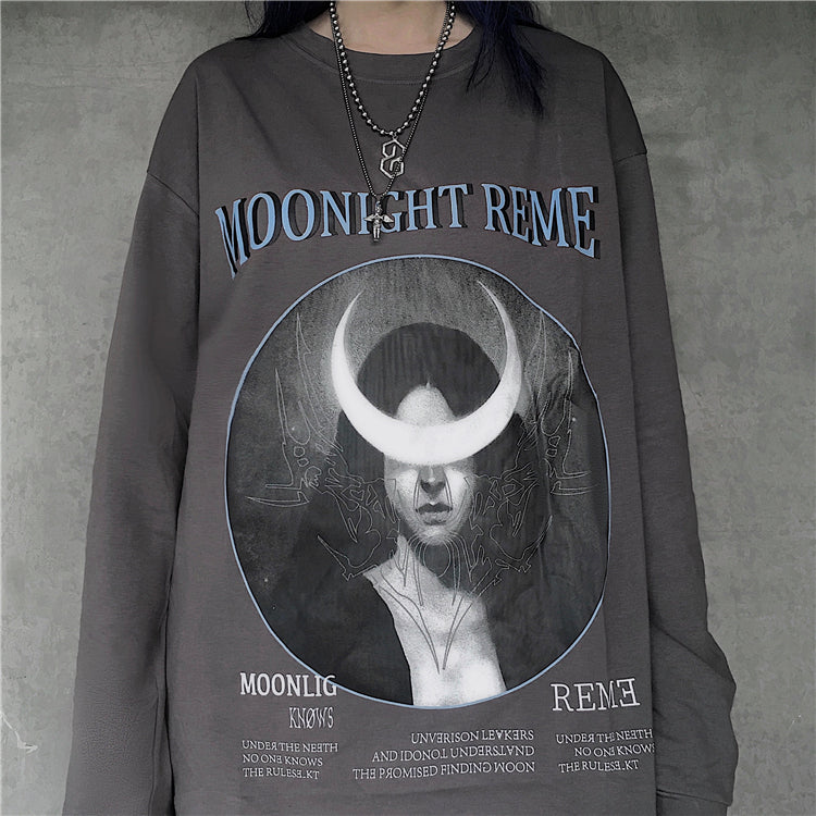 Moon Night L/S T-shirt (3 color)