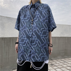 Geometric S/S Shirt (Blue)