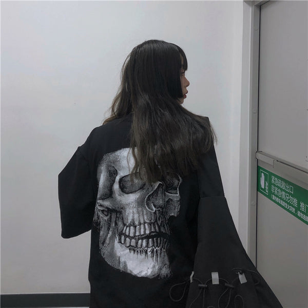 Back Big Skull S/S T-shirt (Black)