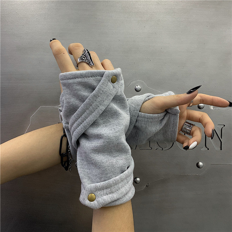 Simple Hand Cover Gloves (2 Color)