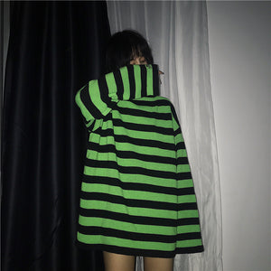 Border Knit Top (Black/Green)