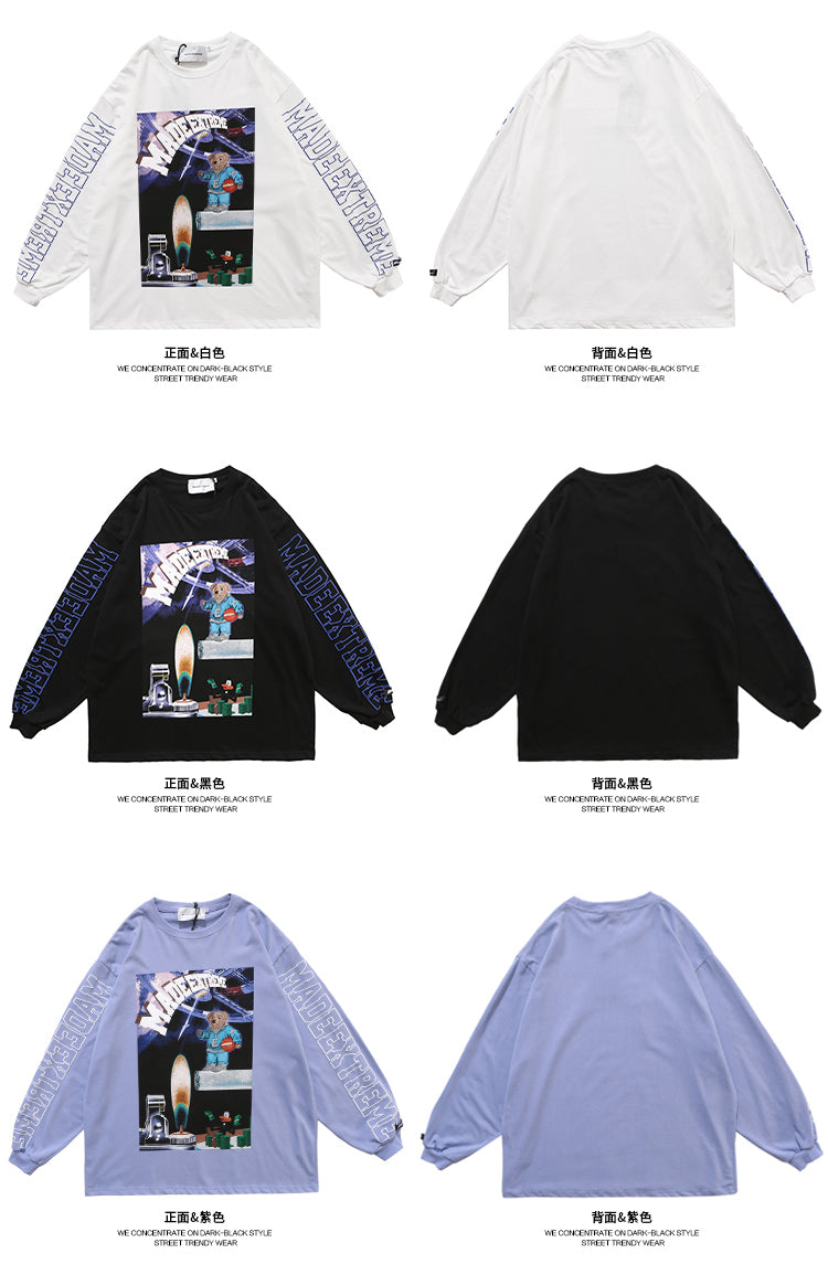 Teddy In The Space L/S T-shirt (3 color)